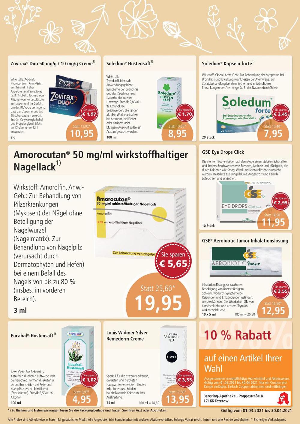 Aktuelle Angebote   Bergring-Apotheke in 17166 Teterow