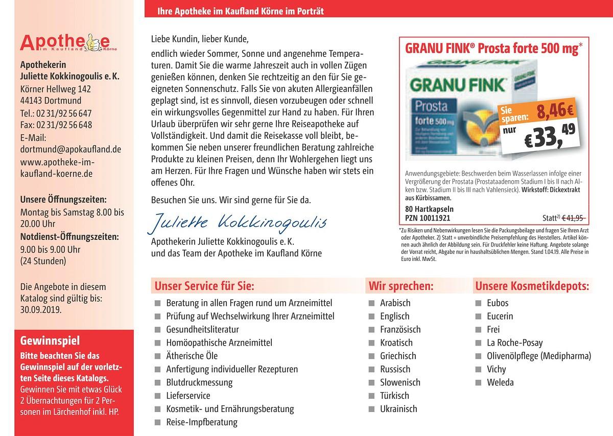 Angebote Apotheke Im Kaufland Körne In 44143 Dortmund