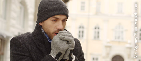 Brustschmerz bei Kälte, © My Agency/Shutterstock.com