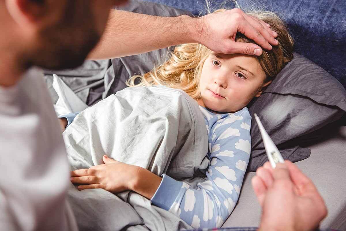 Vor allem Herpangina ist meist mit höherem Fieber verbunden.